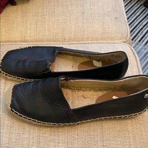 Sam Edelman black leather espadrille